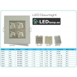 LED lamp süvistatav 4-25w