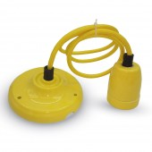 E27 portselanist retro soklid nöörkaabli ja laekinnitusega