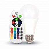 RGB LED pirn puldiga 6W (E27)