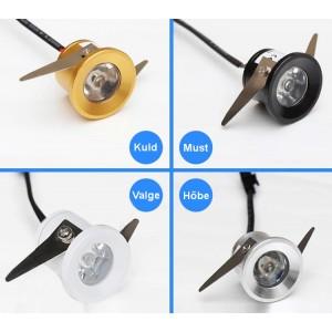 Süvistatavad 1W ja 3W LED valgustid