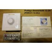 Puldiga/puldita süvistatavad dimmerlülitid 12-24V ja 230V