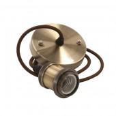 E27 metallist retro soklid kaabli ja laekinnitusega